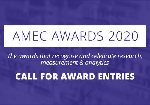 AMEC Awards 2020 Call for Award Entries