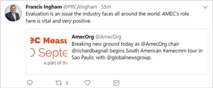 Francis Ingham Tweet